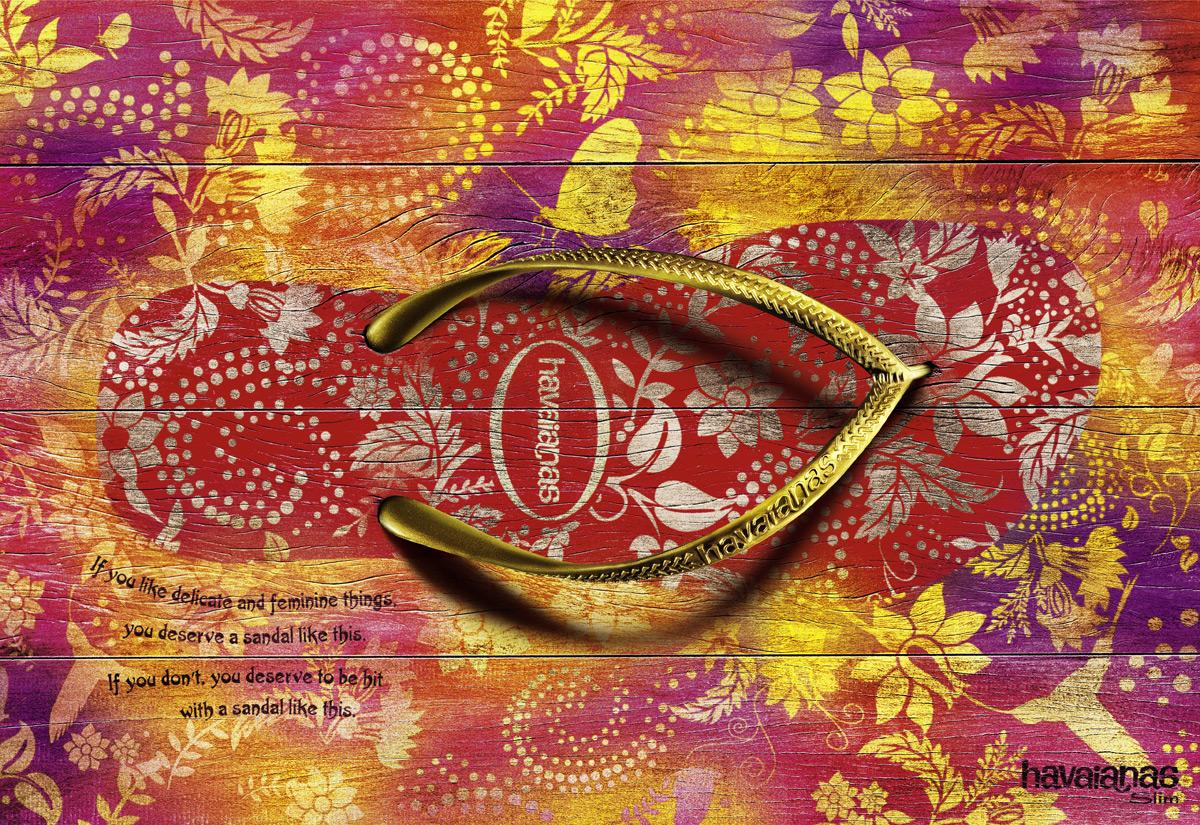 Havaianas Print Ad -  Delicate and feminine things