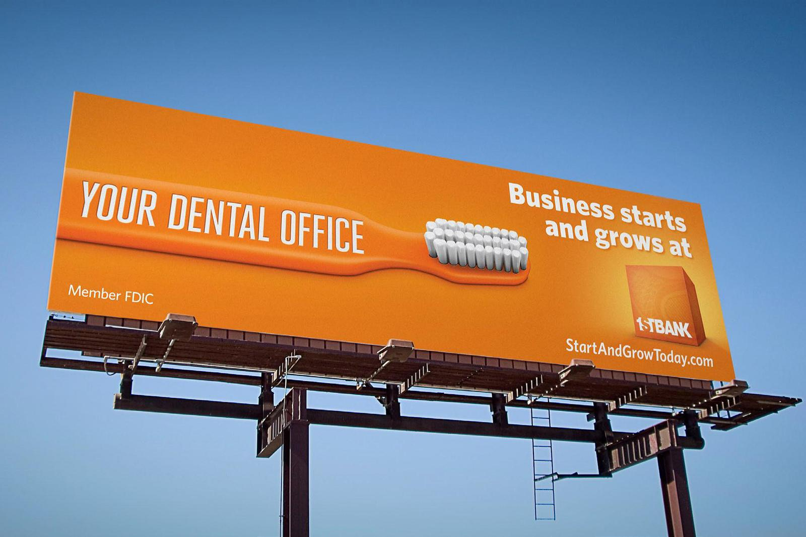 Outdoor Advertising Ideas Part - 18: FirstBank Outdoor Ad - Dentist