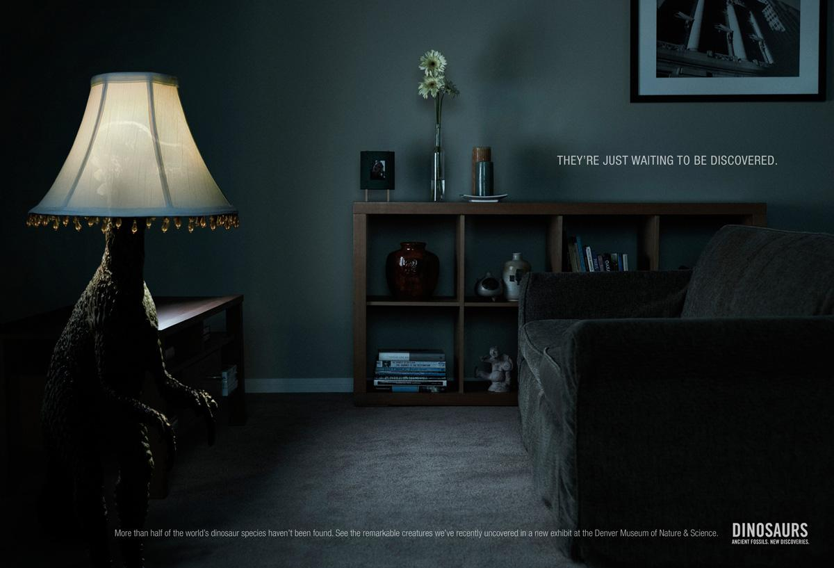Denver Museum of Nature & Science Print Ad -  Living room
