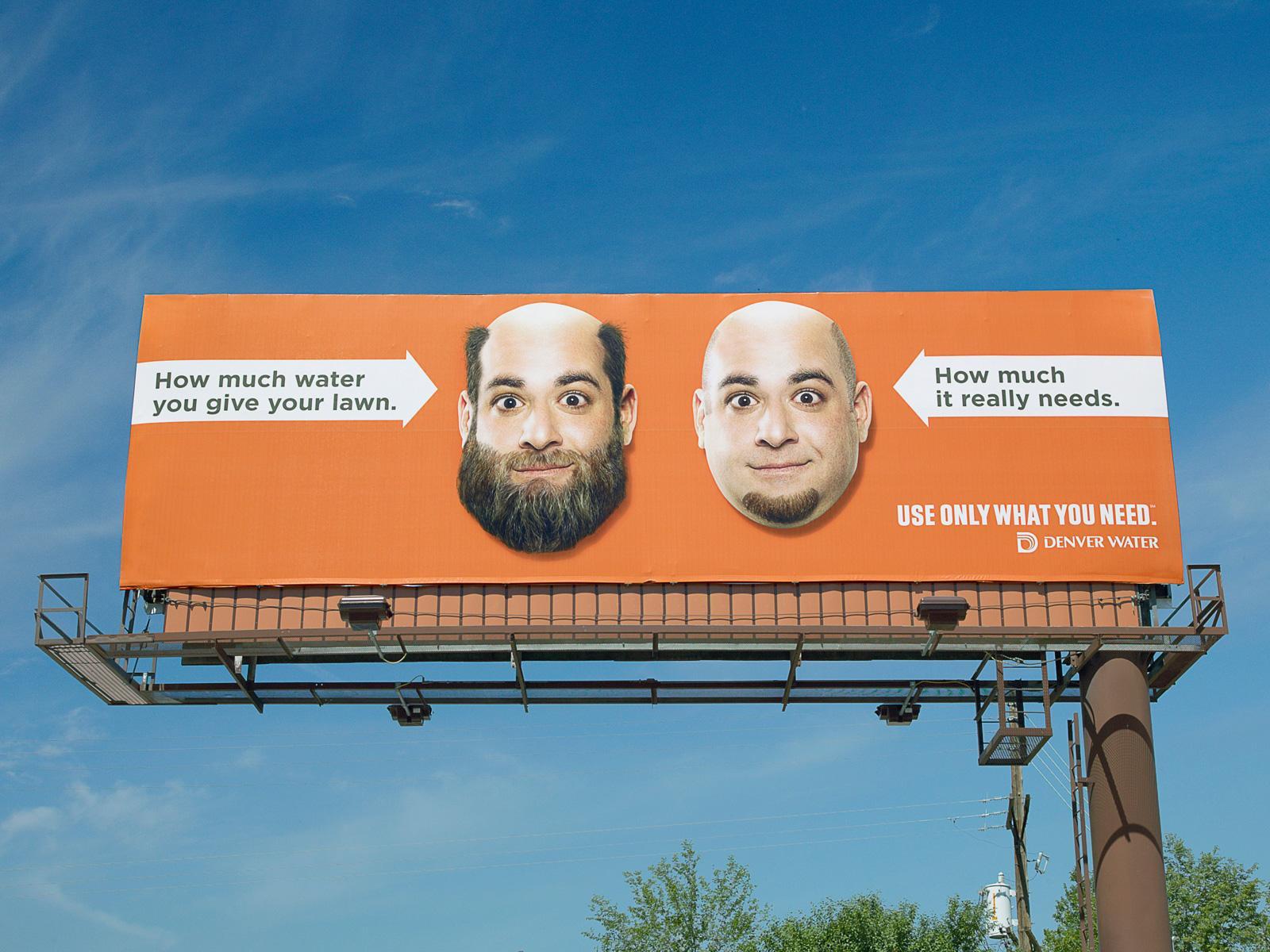 Denver Water Outdoor Ad -  Beard