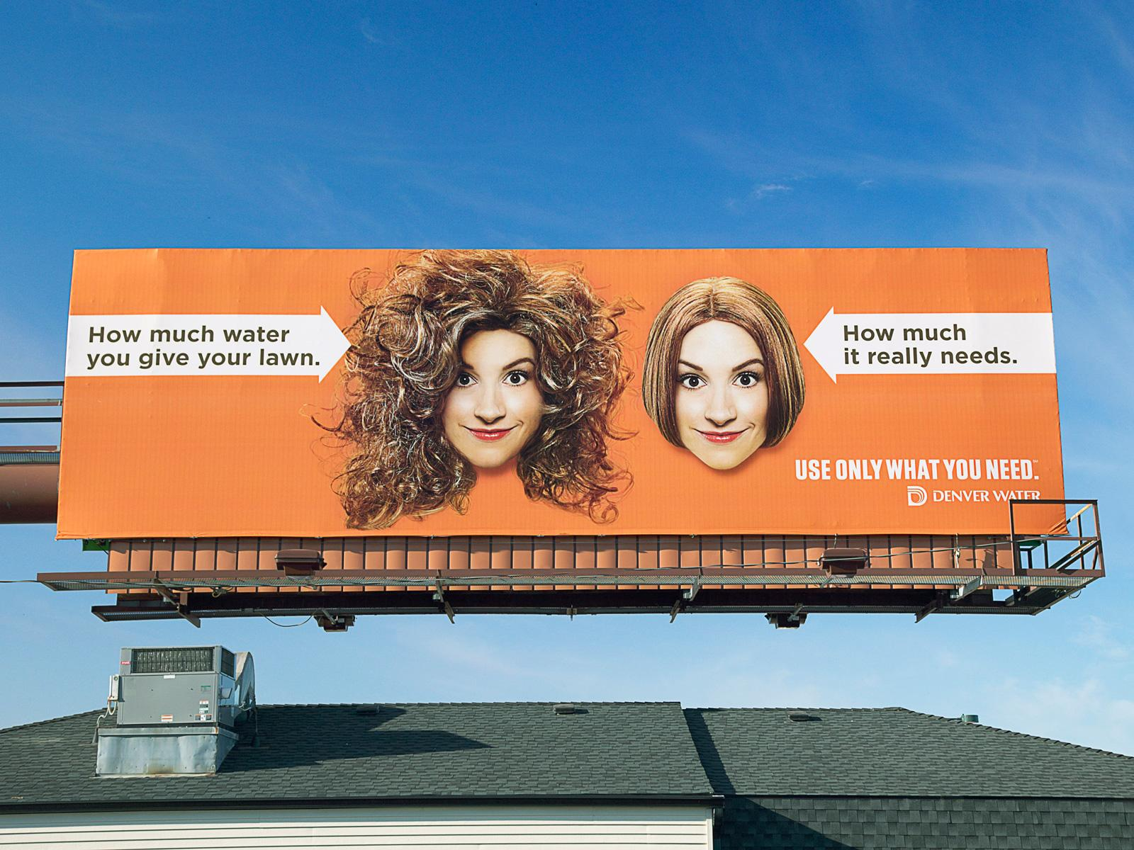 Denver Water Outdoor Ad -  Big hair