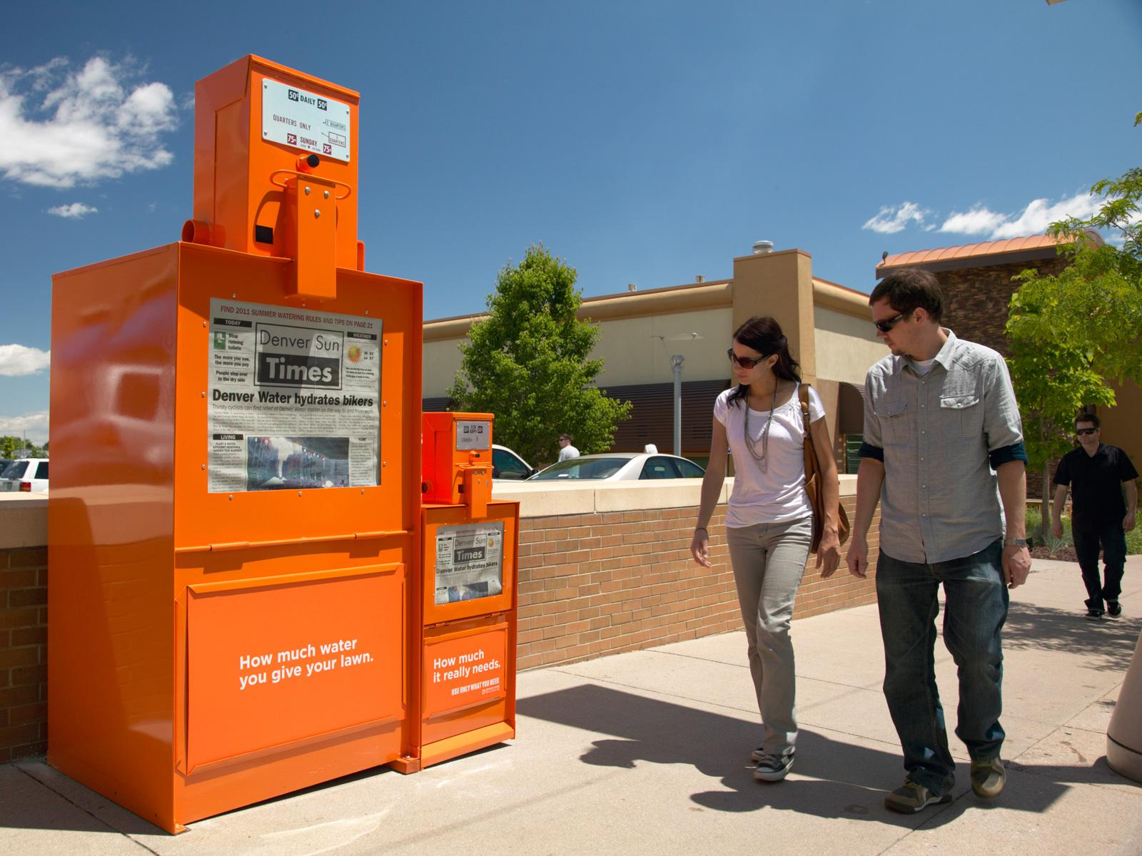 Denver Water Ambient Ad -  Newspaper box