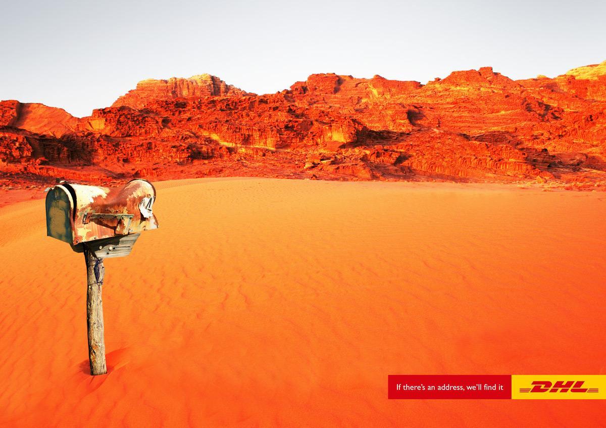 DHL Print Ad -  Desert