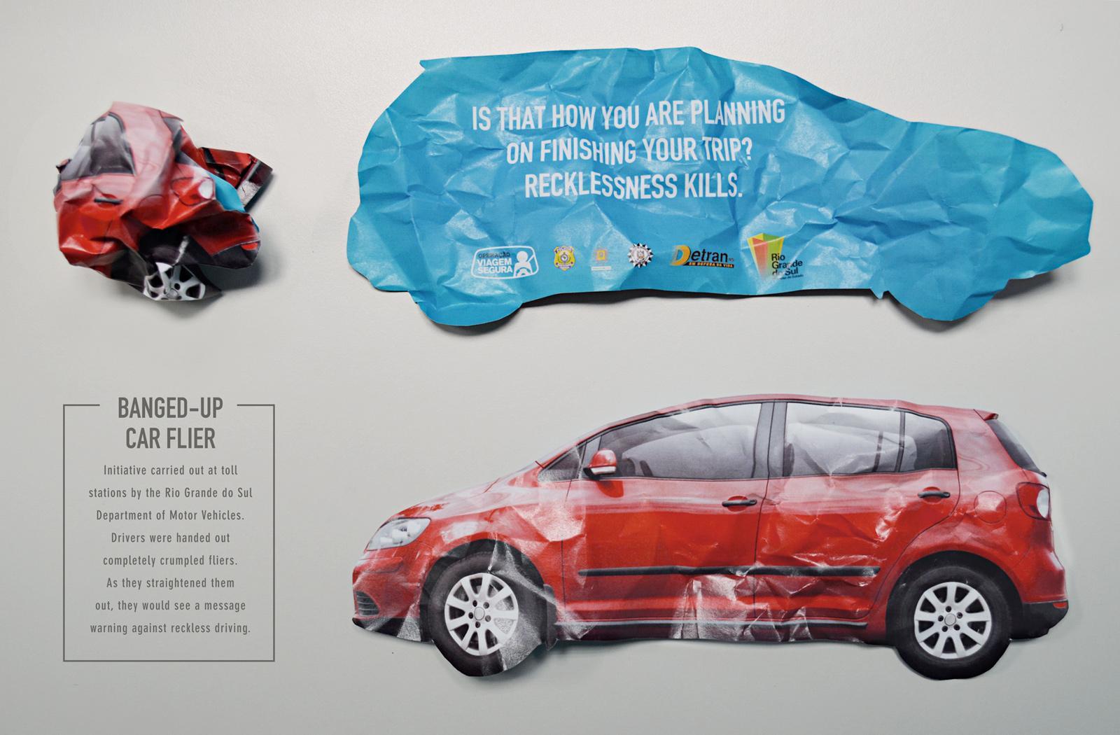 Detran-RS Direct Ad -  Banged-up car flier