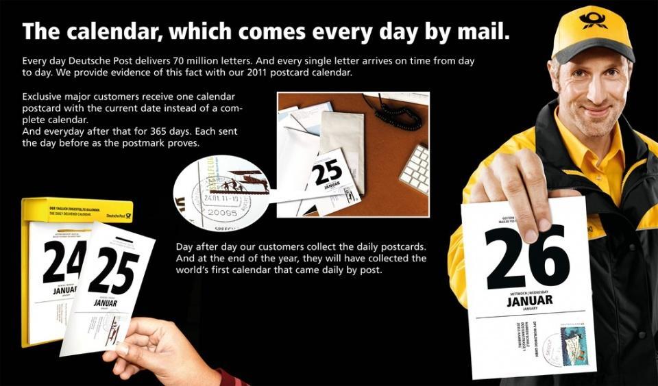 Deutsche Post Direct Ad -  Postcalendar