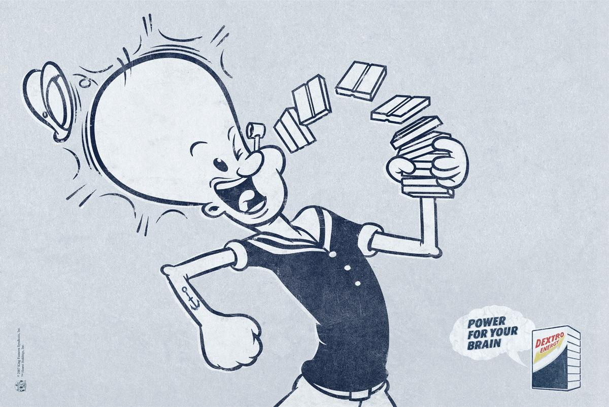 Dextro Energy Print Ad -  Popeye