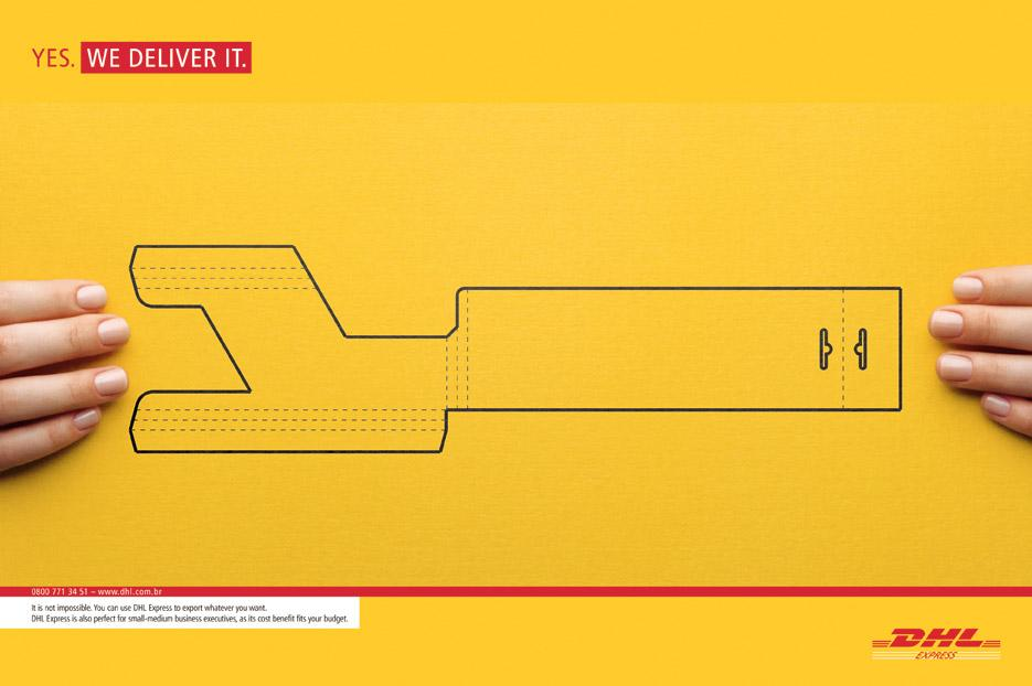DHL Print Ad -  Yes, 3