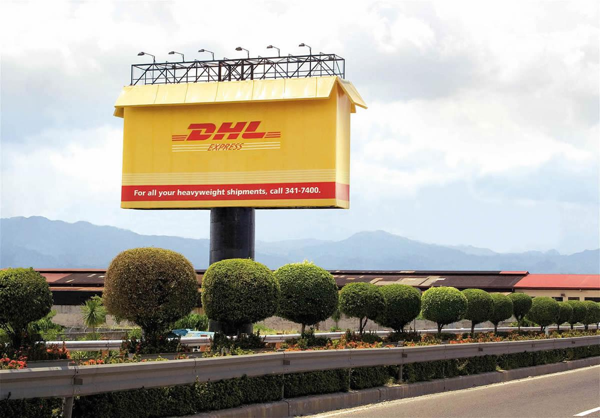 DHL Outdoor Ad -  For all your heavyweight shipments