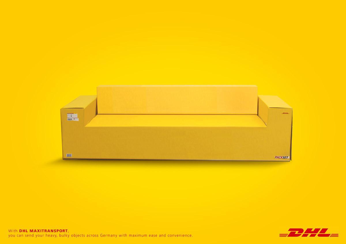 DHL Print Ad -  Sofa
