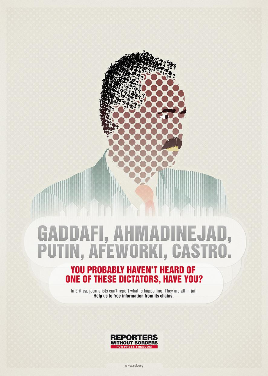 Reporters Without Borders Print Ad -  Dictators