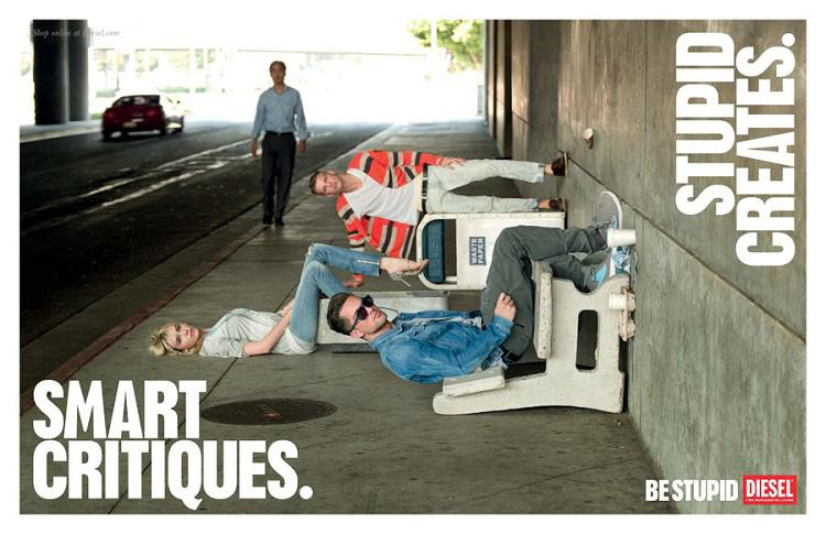 Diesel Print Ad -  Be stupid, 19