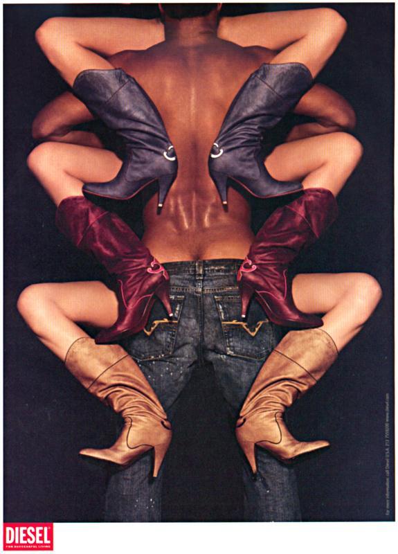 Diesel Print Ad -  Scorpion (in pants)