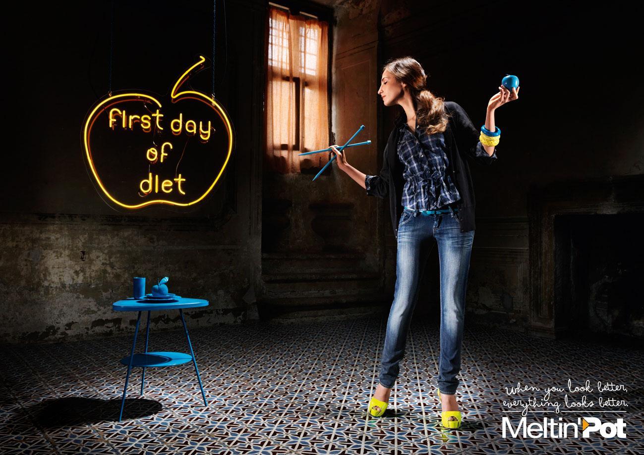 Meltin'Pot Print Ad -  Diet