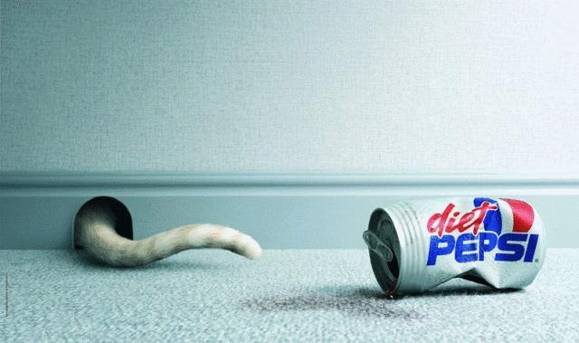Pepsi Print Ad -  Cat