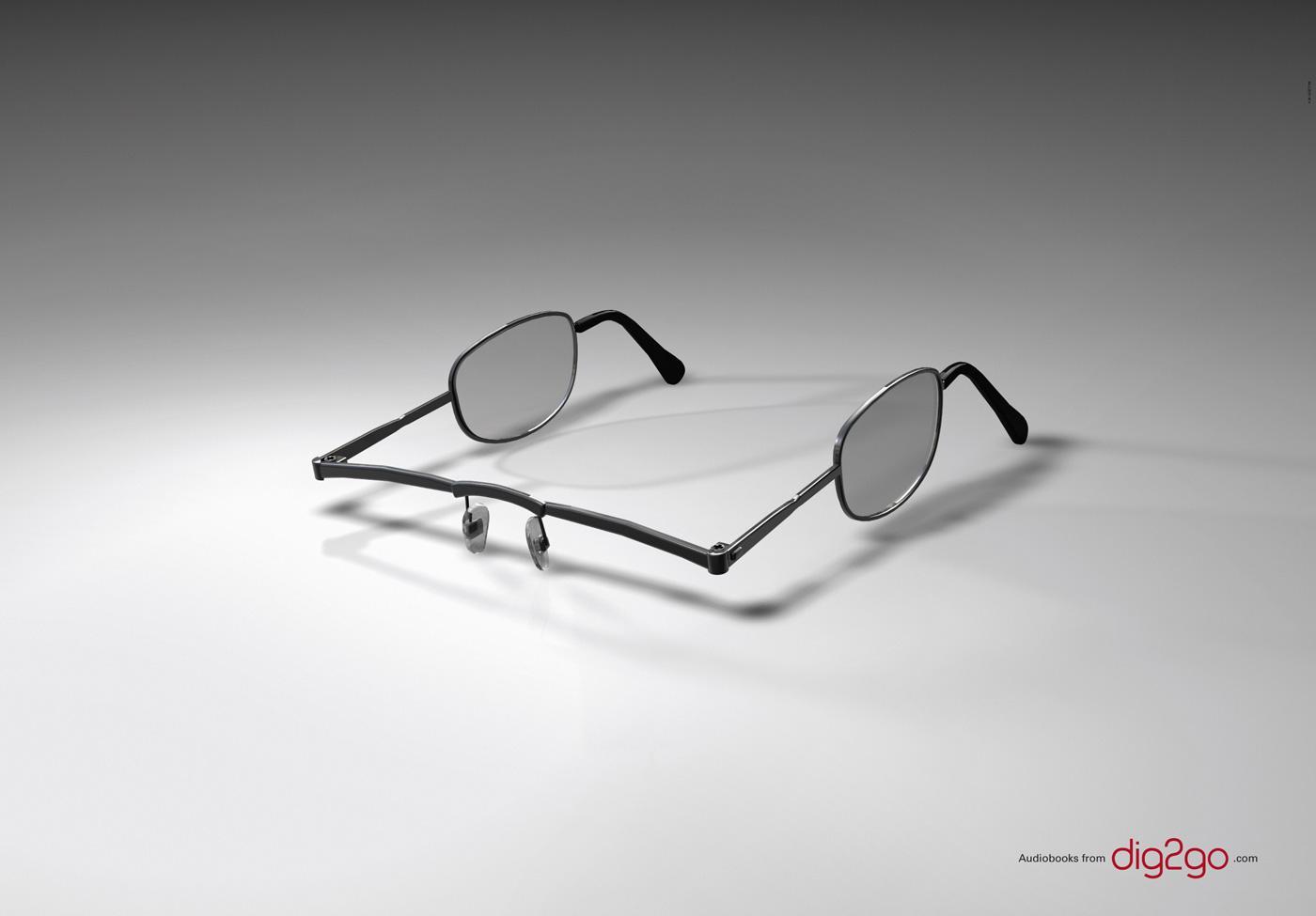 dig2go.com Print Ad -  Ear Glasses