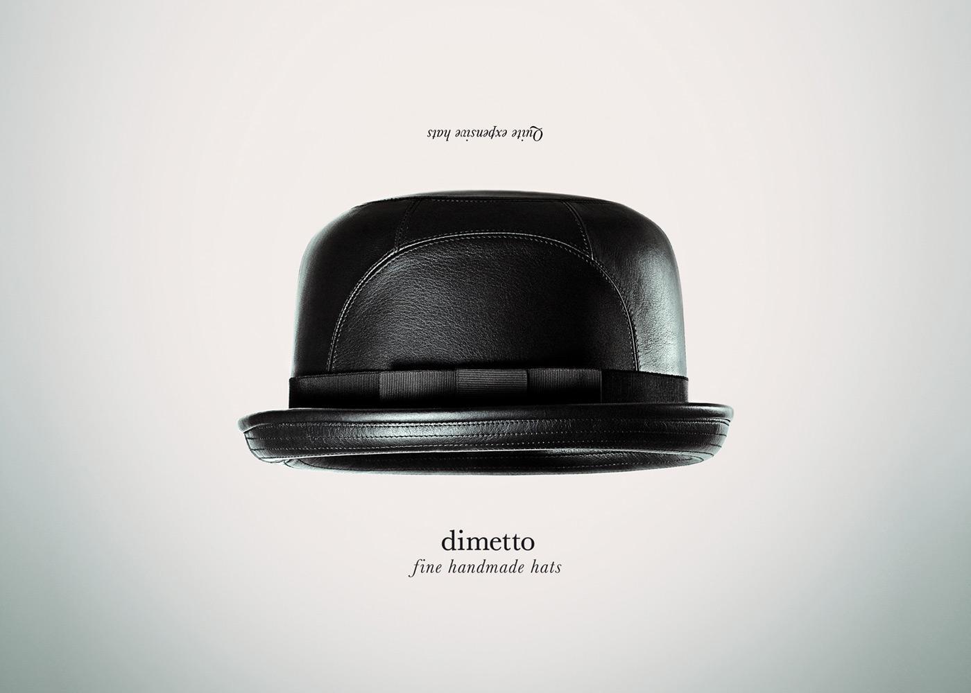 Dimetto Print Ad -  Fine handmade hats, 3