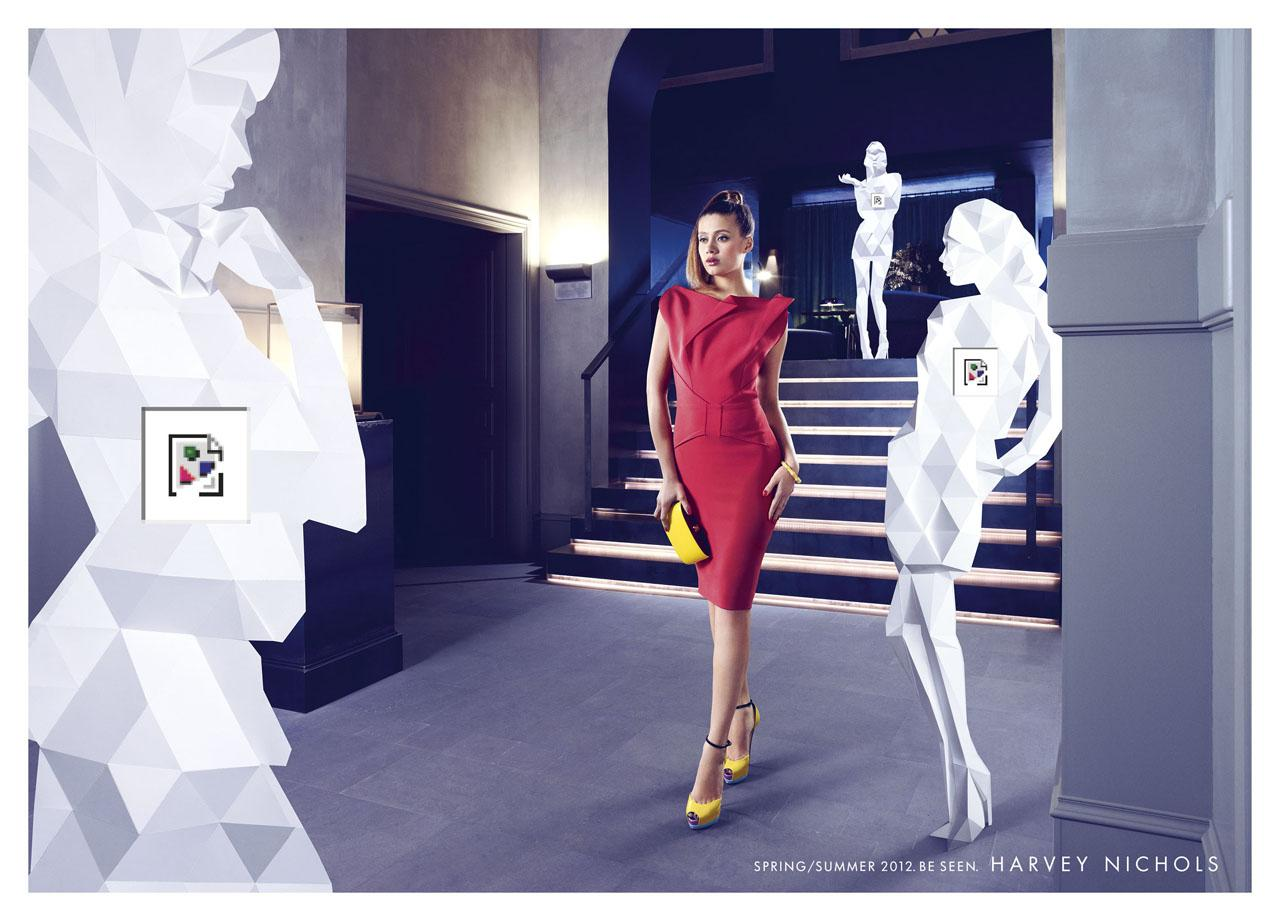 Harvey Nichols Print Ad -  Woman, 2