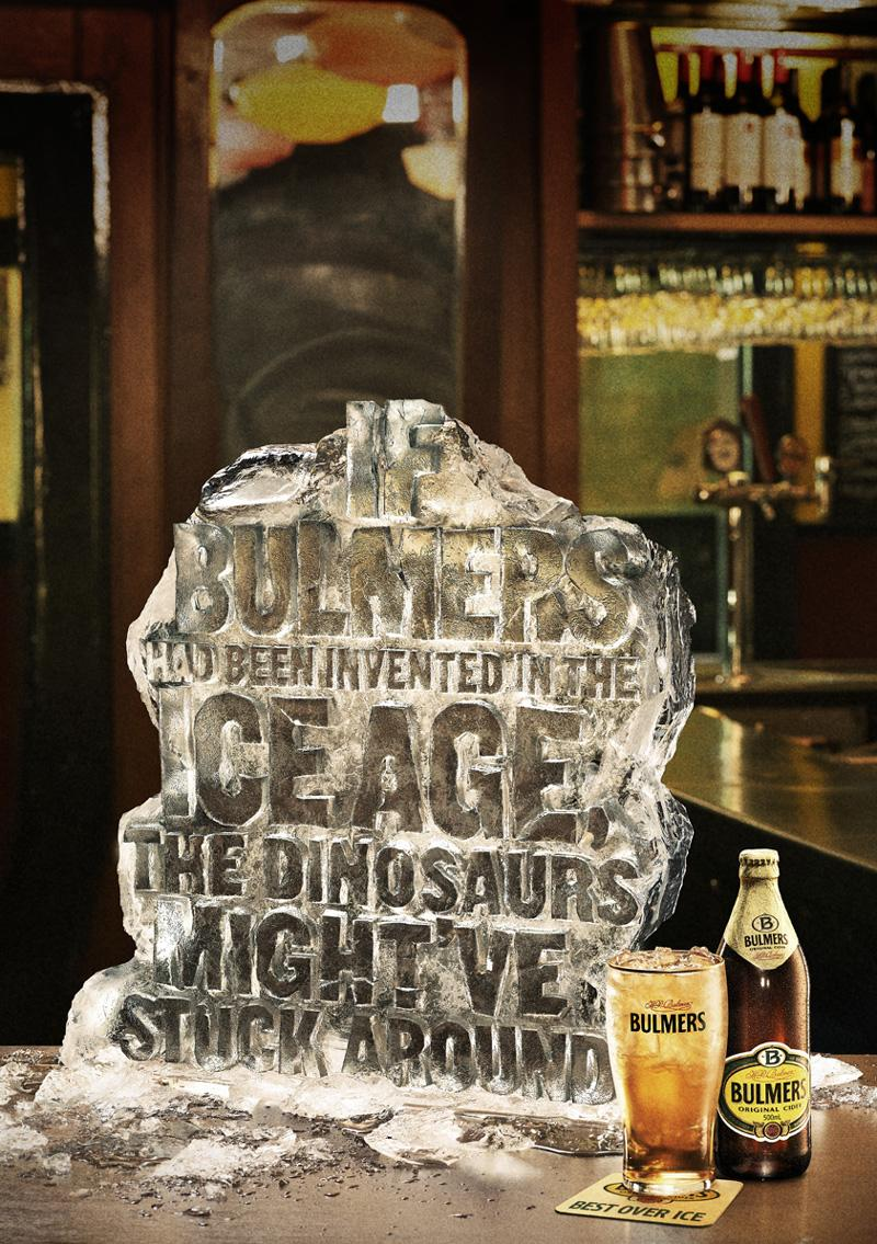 Bulmers Outdoor Ad -  Dinosaurs