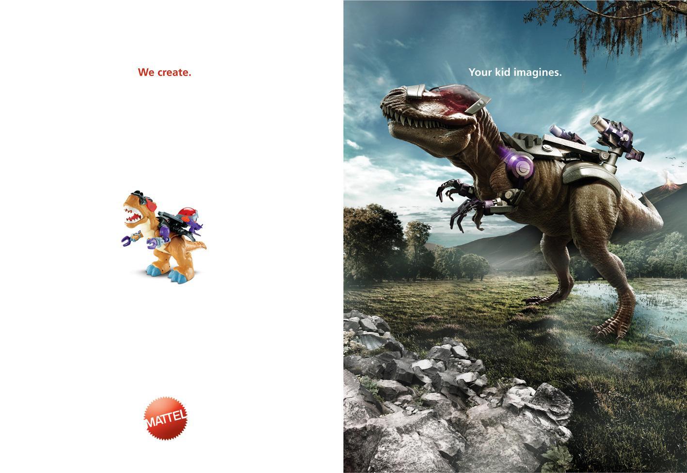 Mattel Print Ad -  Dinosaur