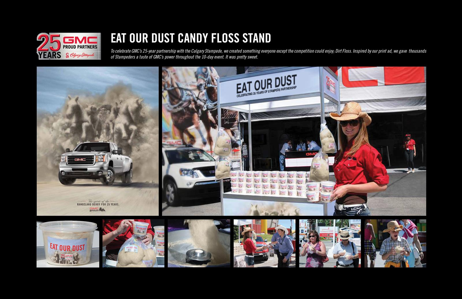 GMC Ambient Ad -  Eat Our Dust Candy Floss Stand