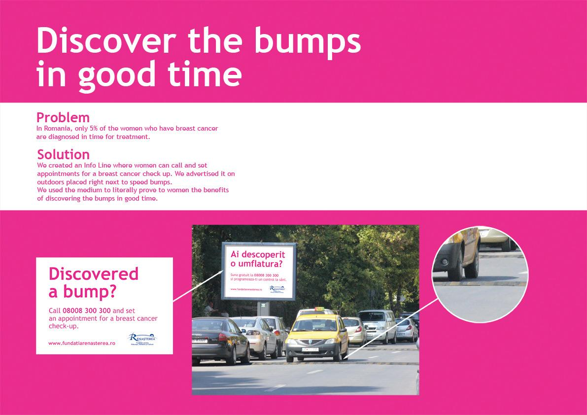 Renaissance Foundation for Education Ambient Ad -  Discover the bumps in good time