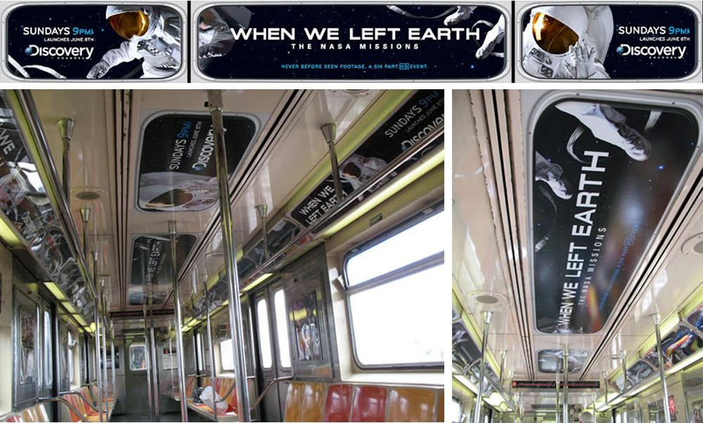 Discovery Channel Ambient Ad -  Subway