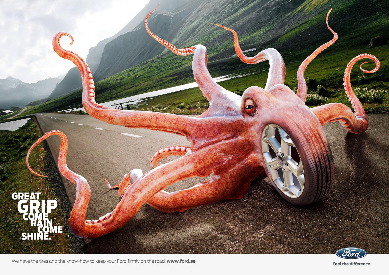 Ford Print Ad -  OctoGrip