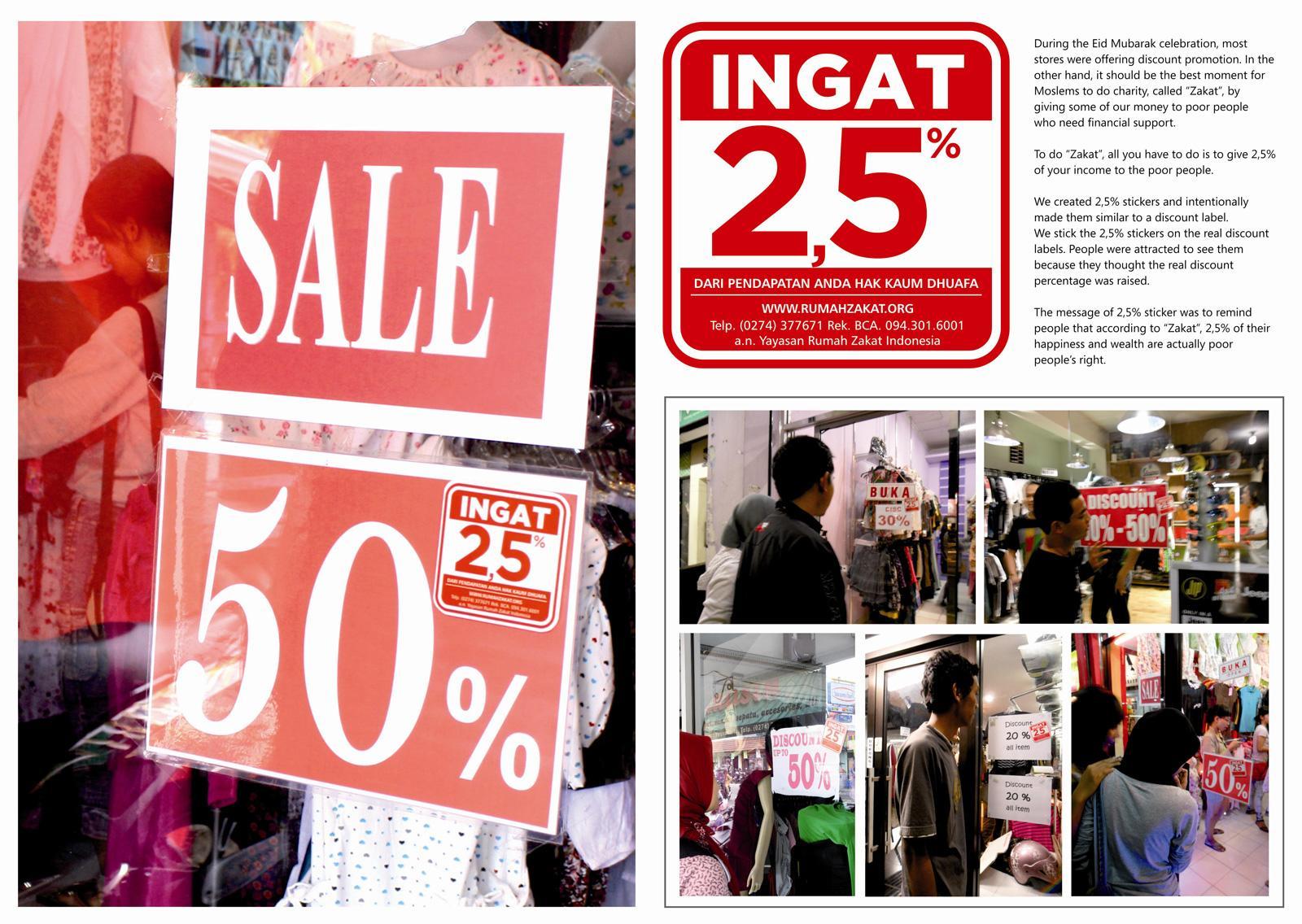 Rumah Zakat Ambient Ad -  Discount 2.5%