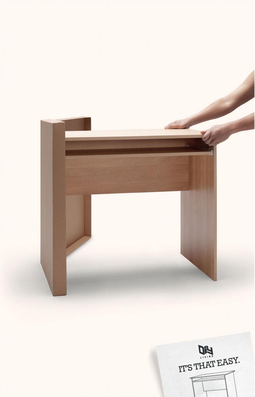 DIY Living Print Ad -  Table