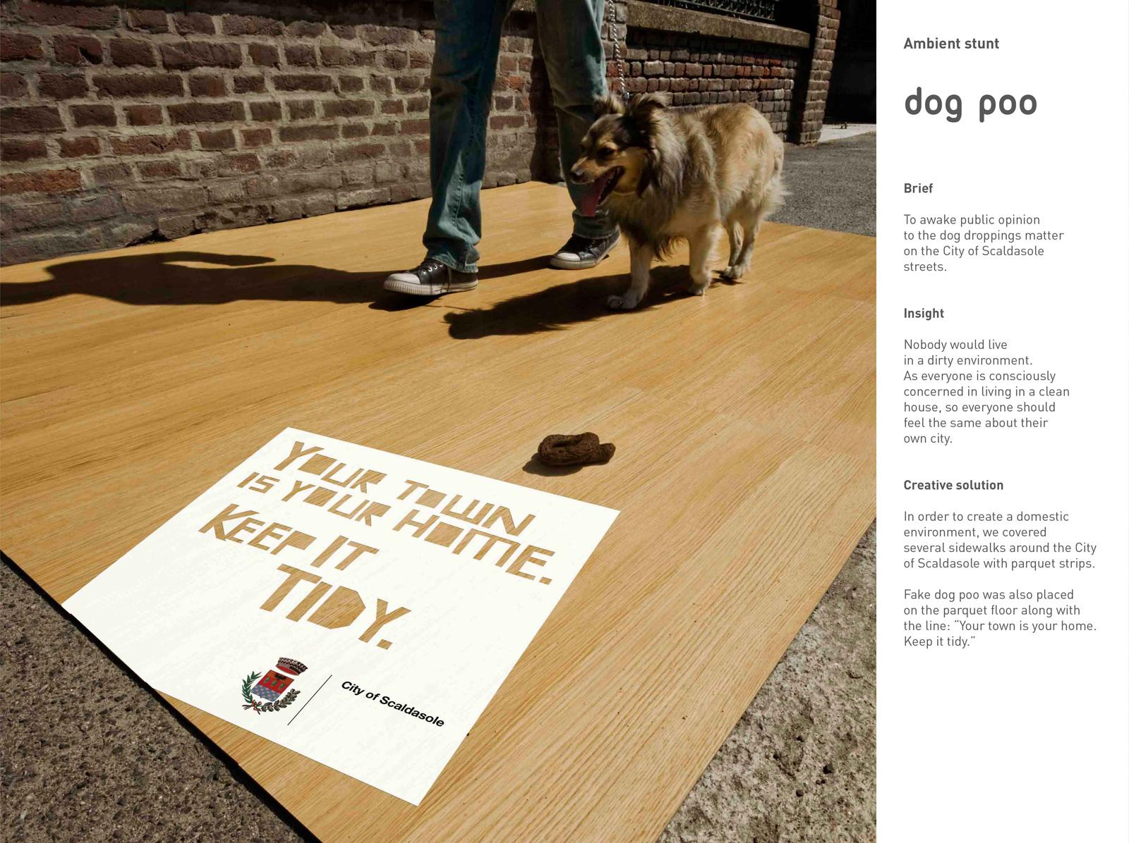 City of Scaldasole Ambient Ad -  Dog poo ambient stunt