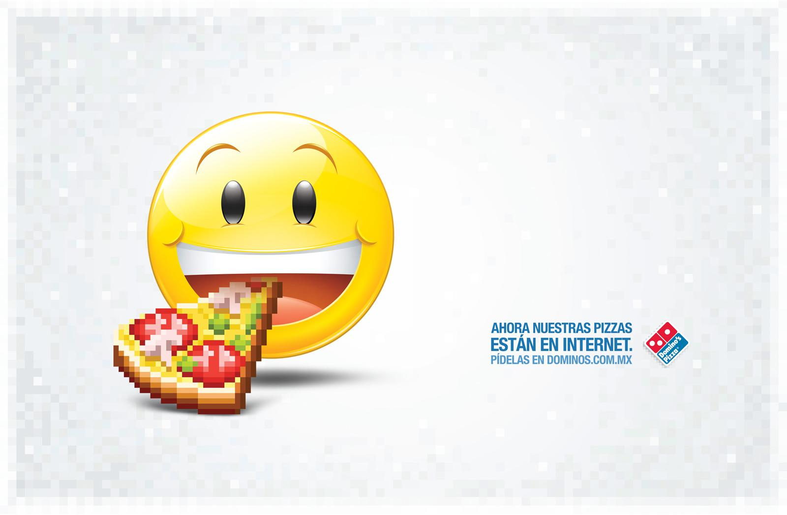 Domino\'s Pizza Print Advert By TBWA: Emoticon   Ads of the World™