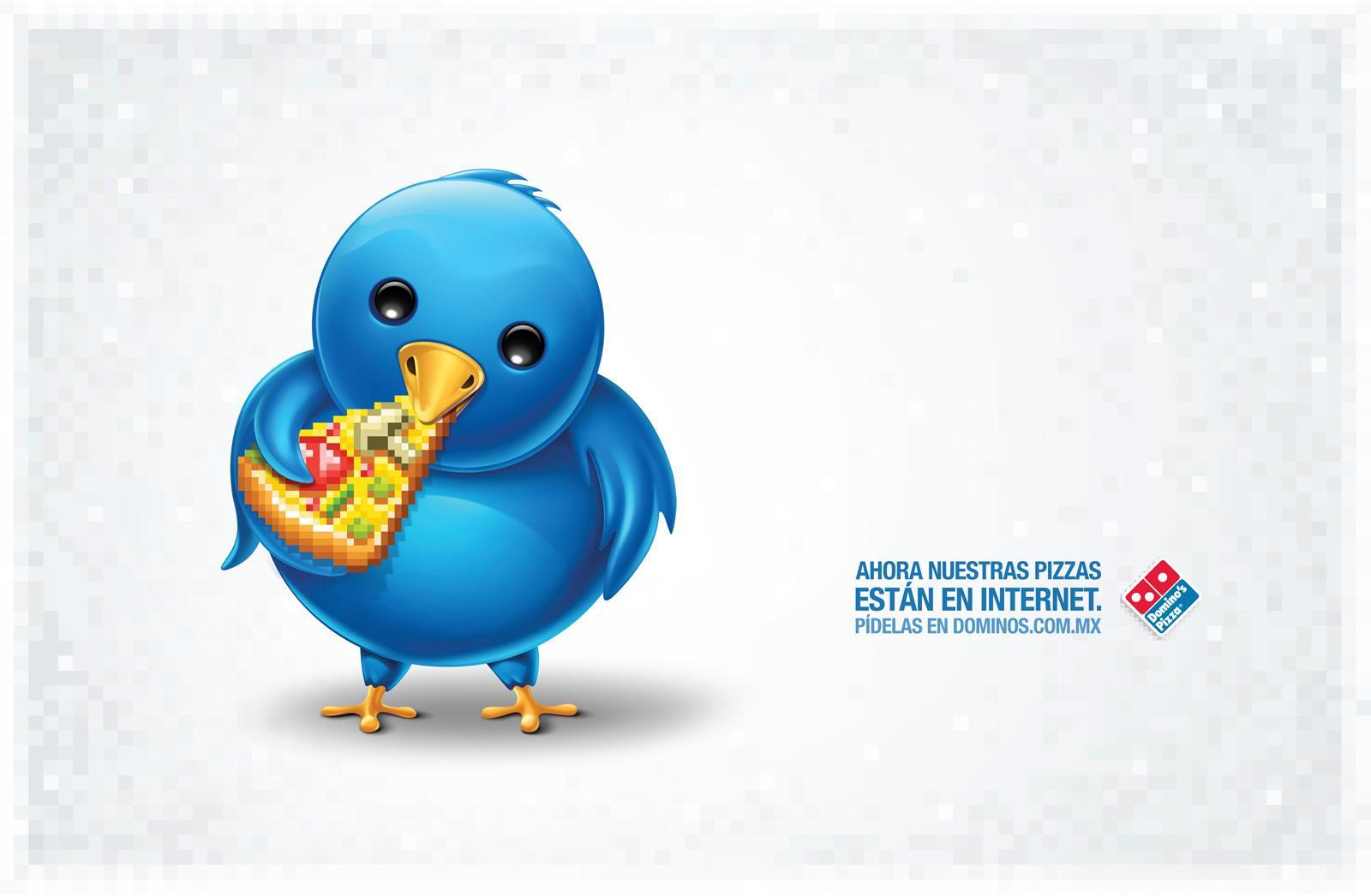 Domino's Pizza Print Ad -  Twitter