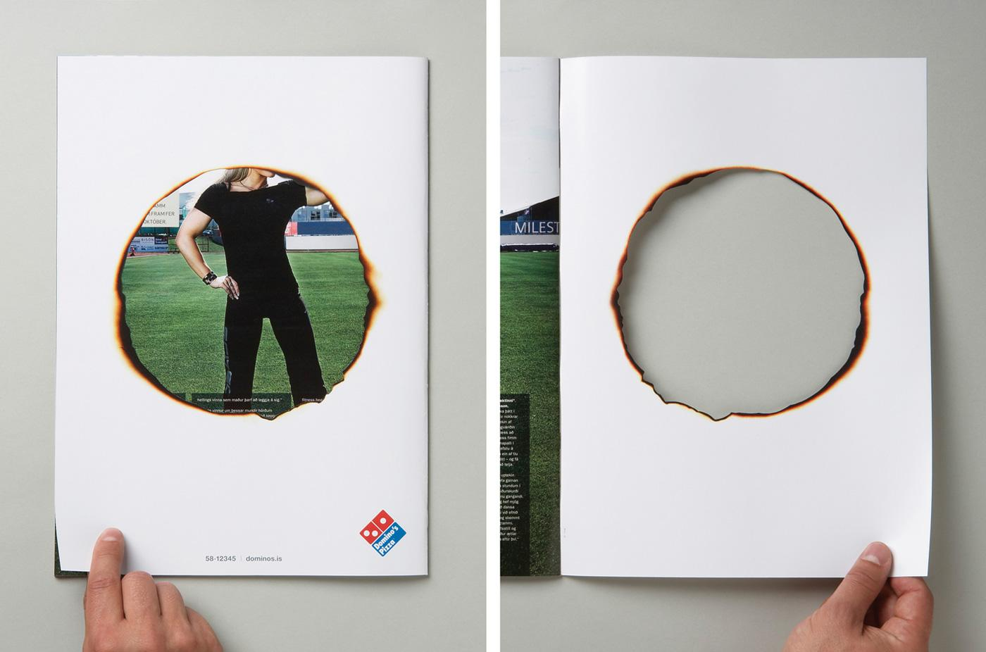 Domino\'s Pizza Ambient Advert By O!: Hole | Ads of the World™
