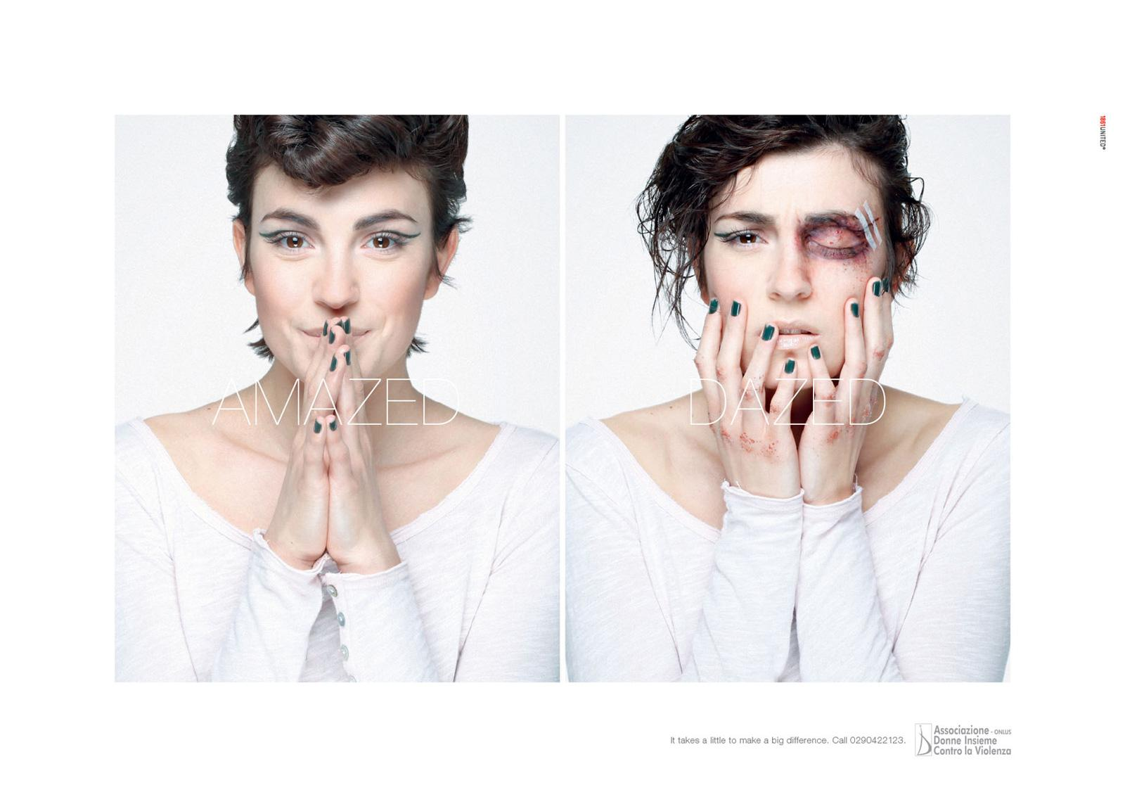 Women Against Violence Print Ad -  Difference, 1