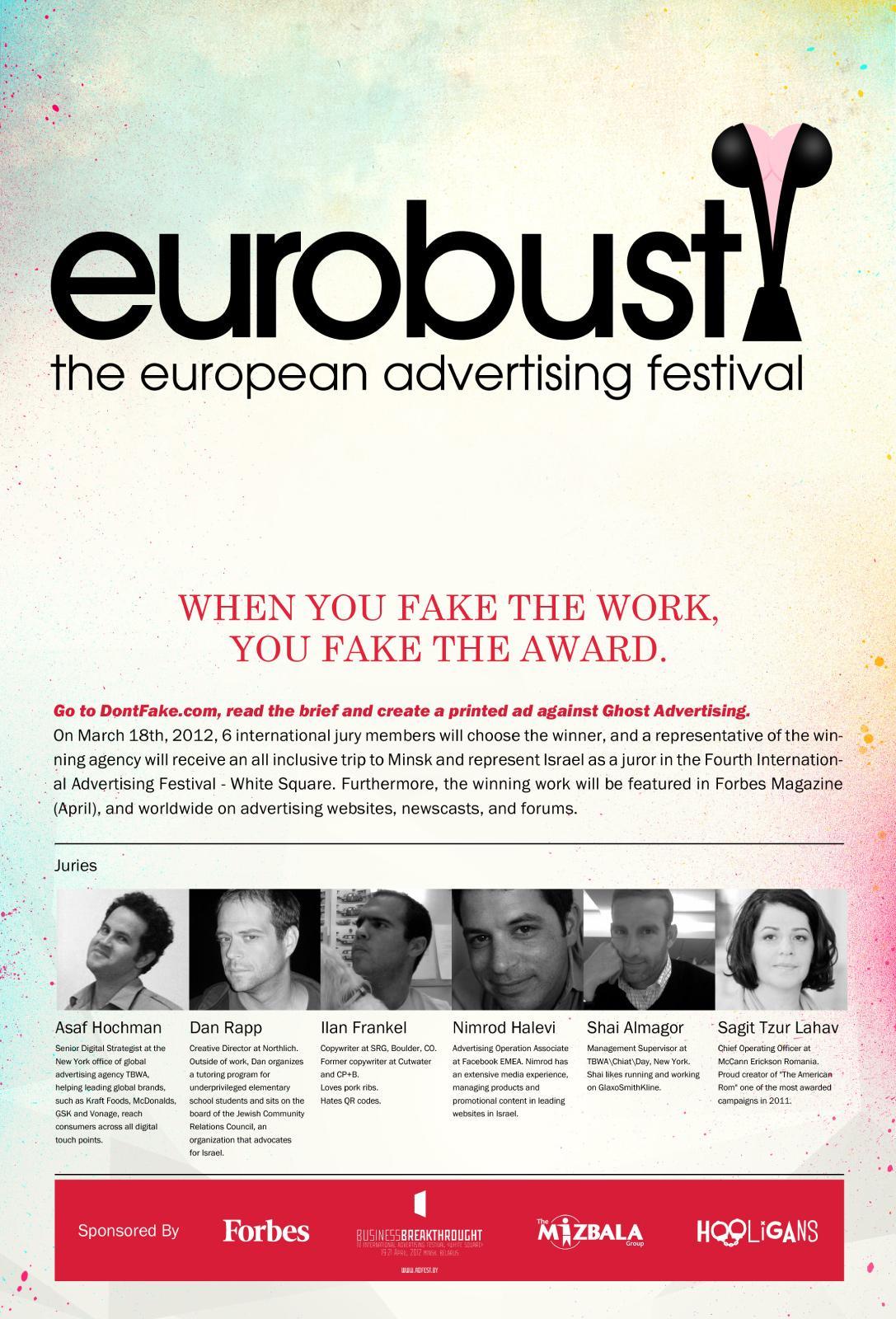 White Square Print Ad -  DontFake.com, Eurobust