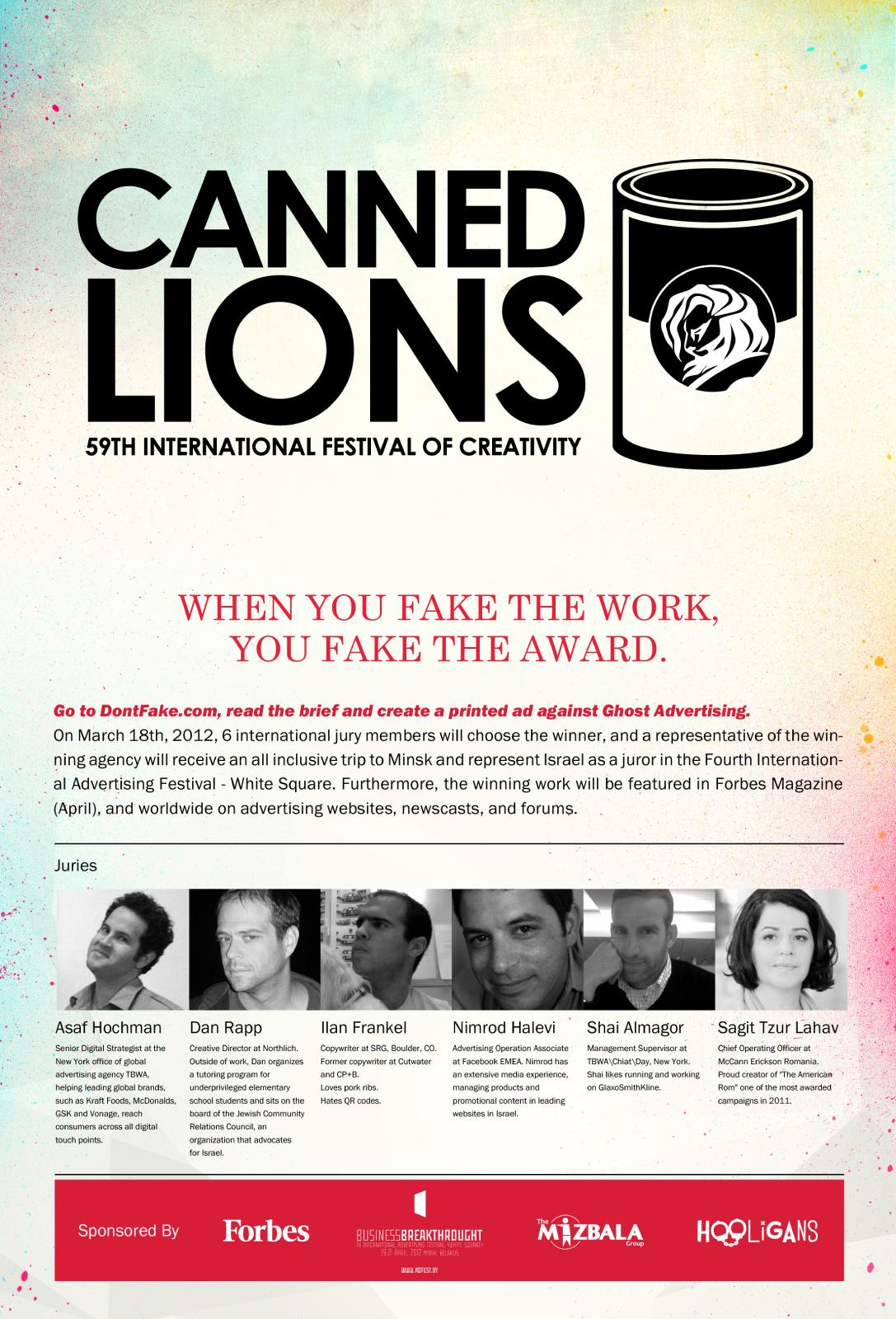 White Square Print Ad -  DontFake.com, Canned Lions