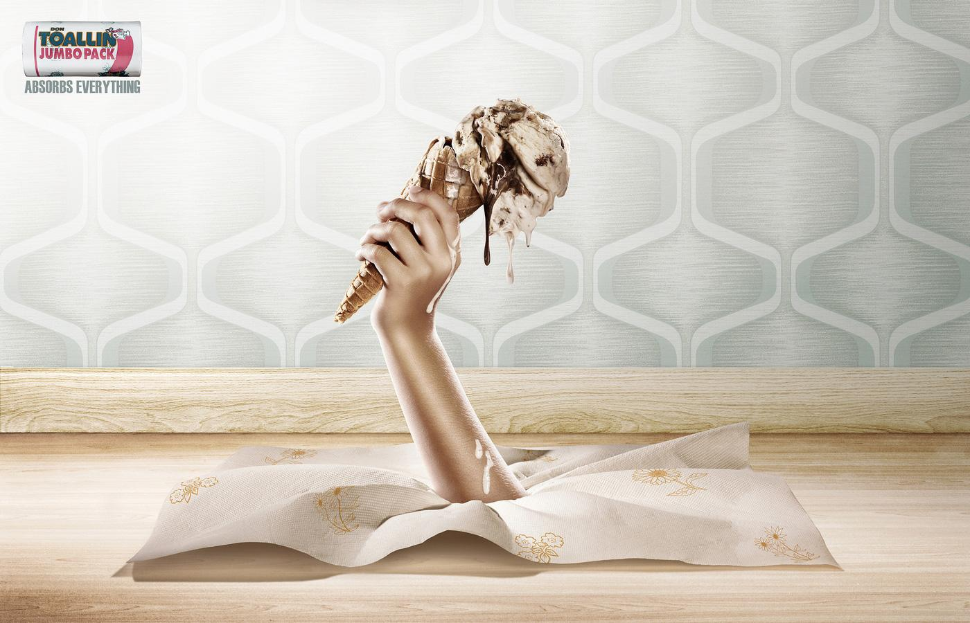 Don Toallin Print Ad -  Ice cream