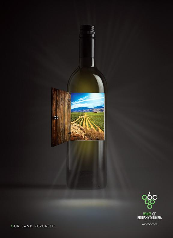 The Wines of British Columbia Print Ad -  Door