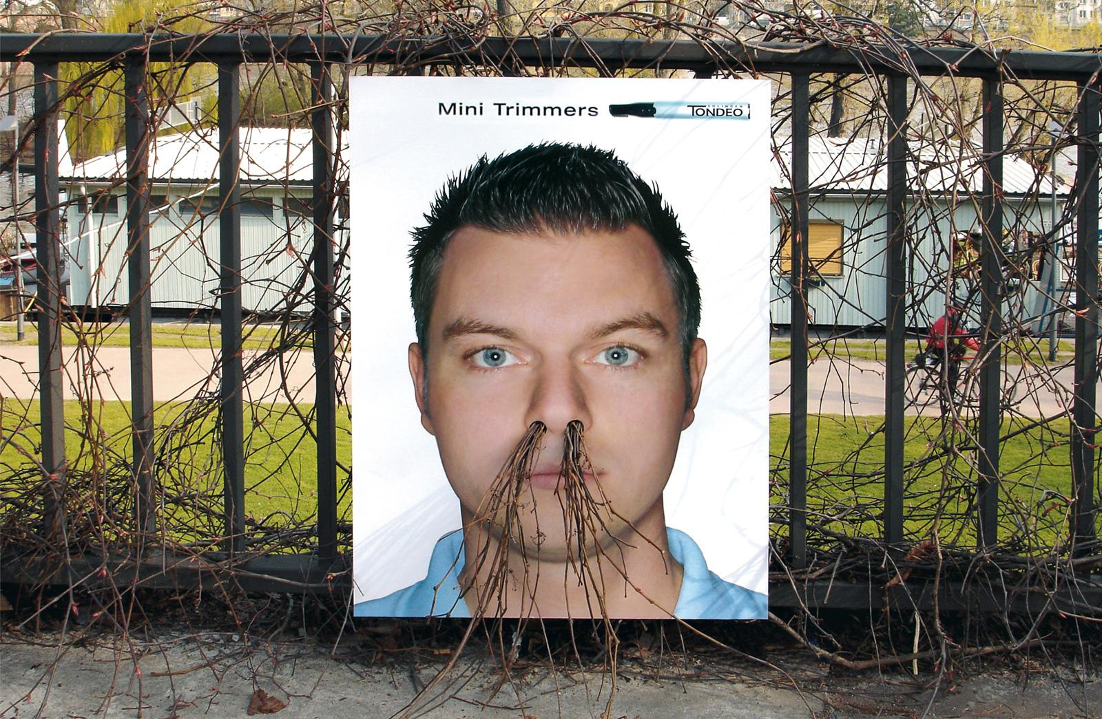 Tondeo Outdoor Ad -  Growing Poster Nose Hair