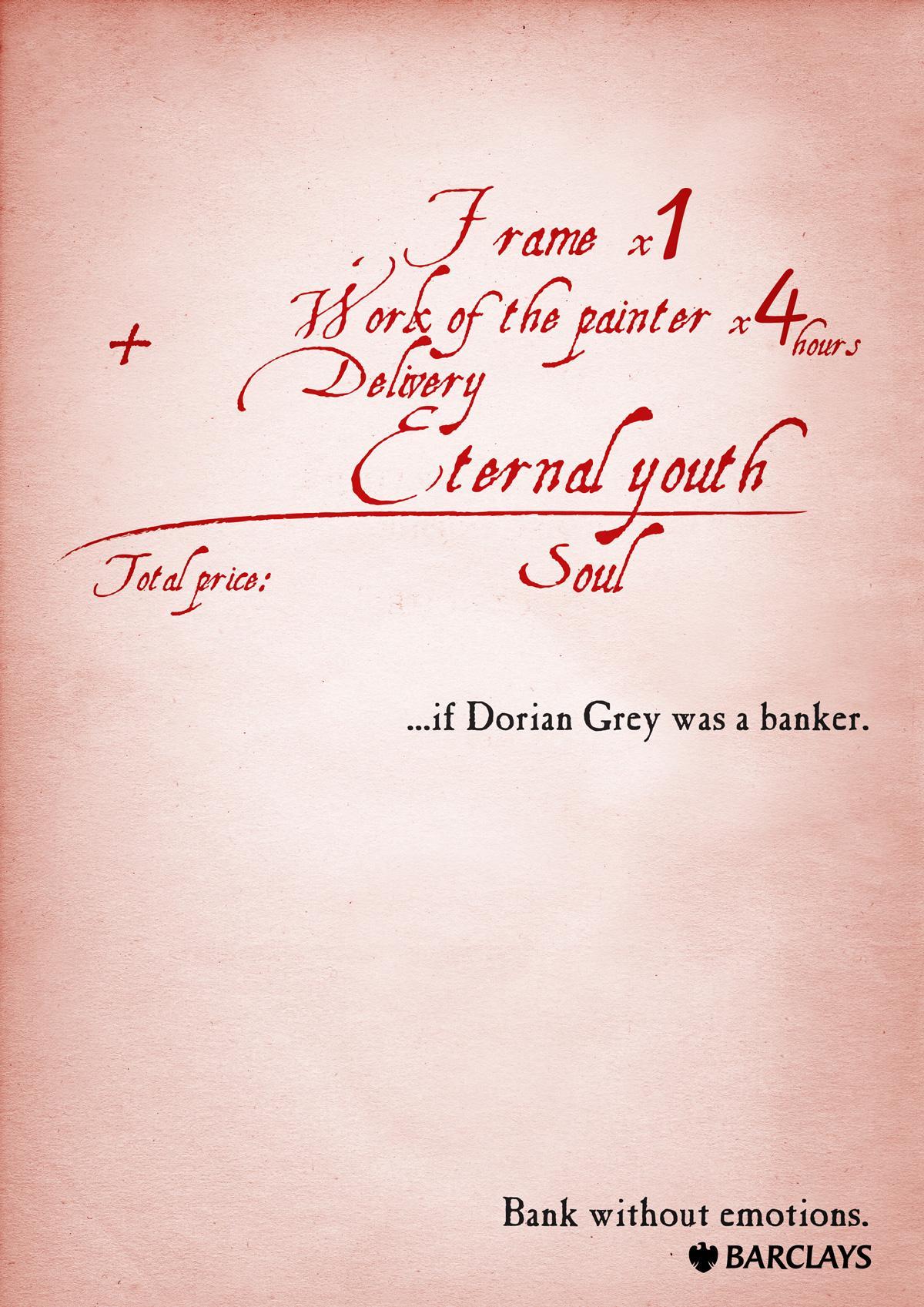 Barclays Print Ad -  Dorian Grey