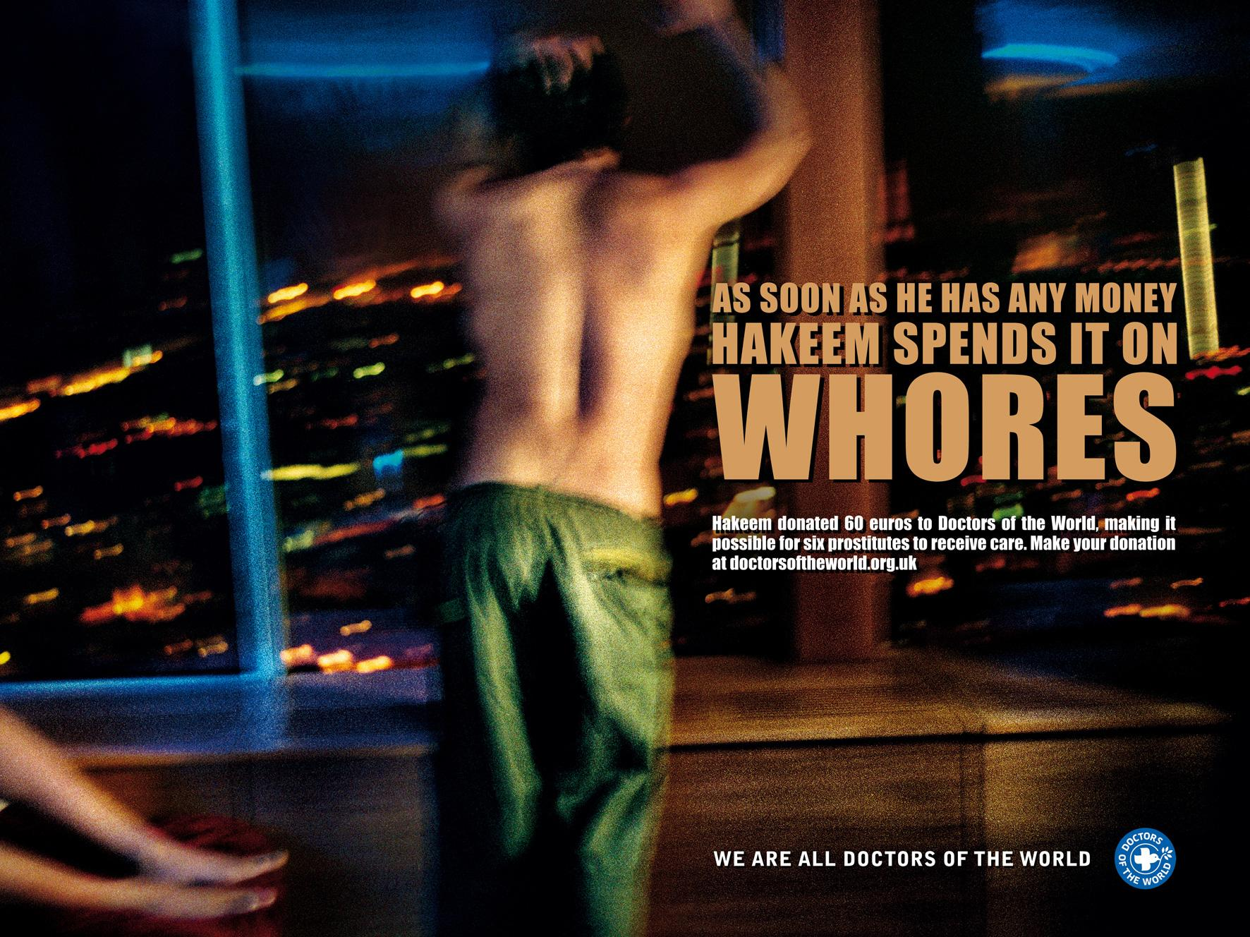 Doctors of the World Print Ad -  Whores