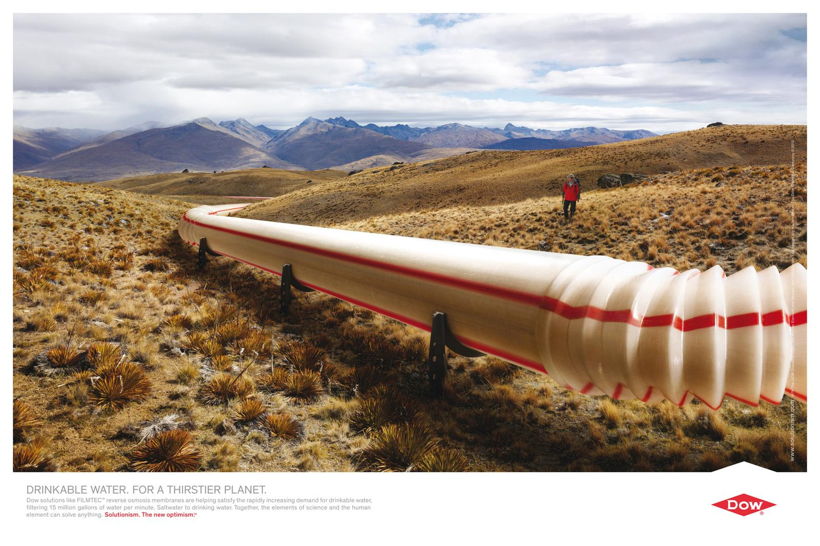 Dow Chemical Company Print Ad -  Straw