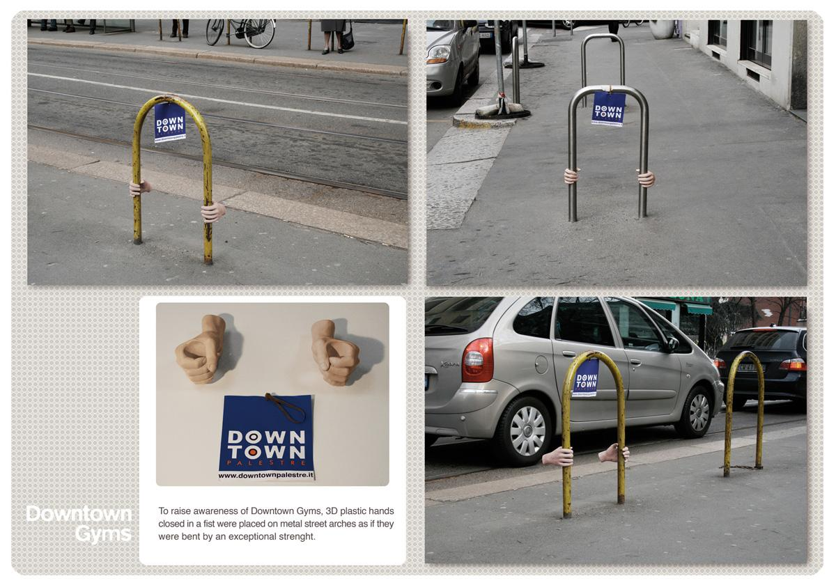 Downtown Gyms Ambient Ad -  Hands