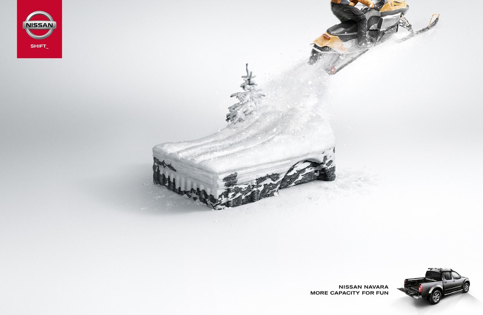 Nissan Print Ad -  Snowmobile
