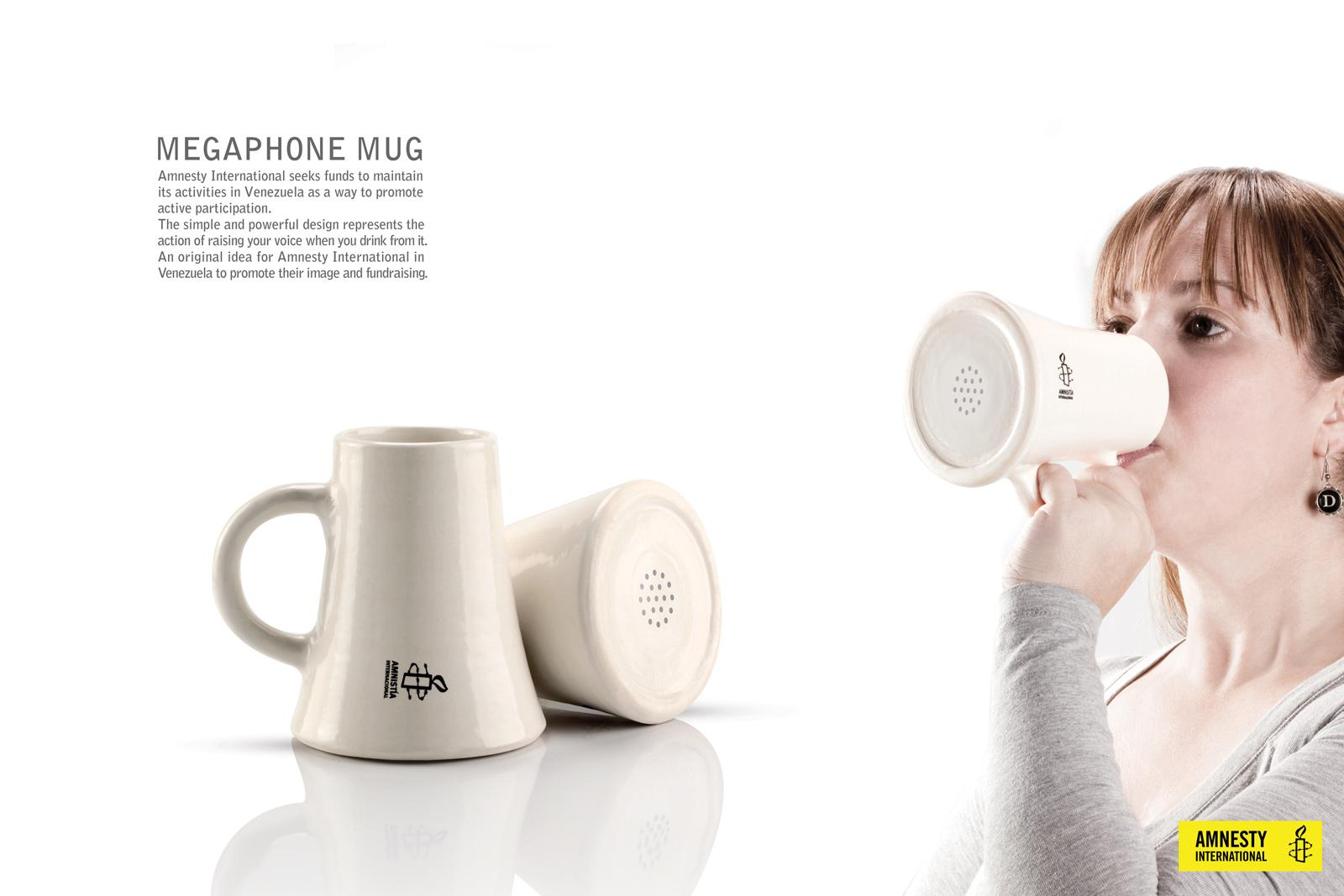 Amnesty International Direct Ad -  Megaphone Mug