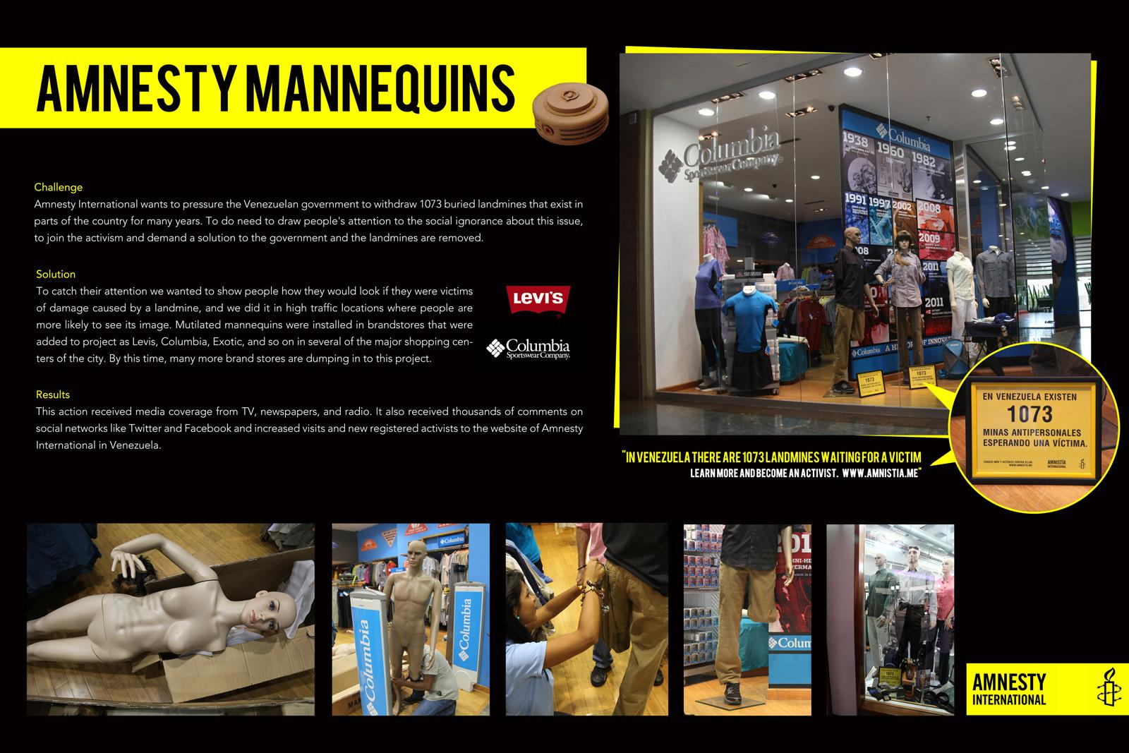 Amnesty International Ambient Ad -  Mannequins