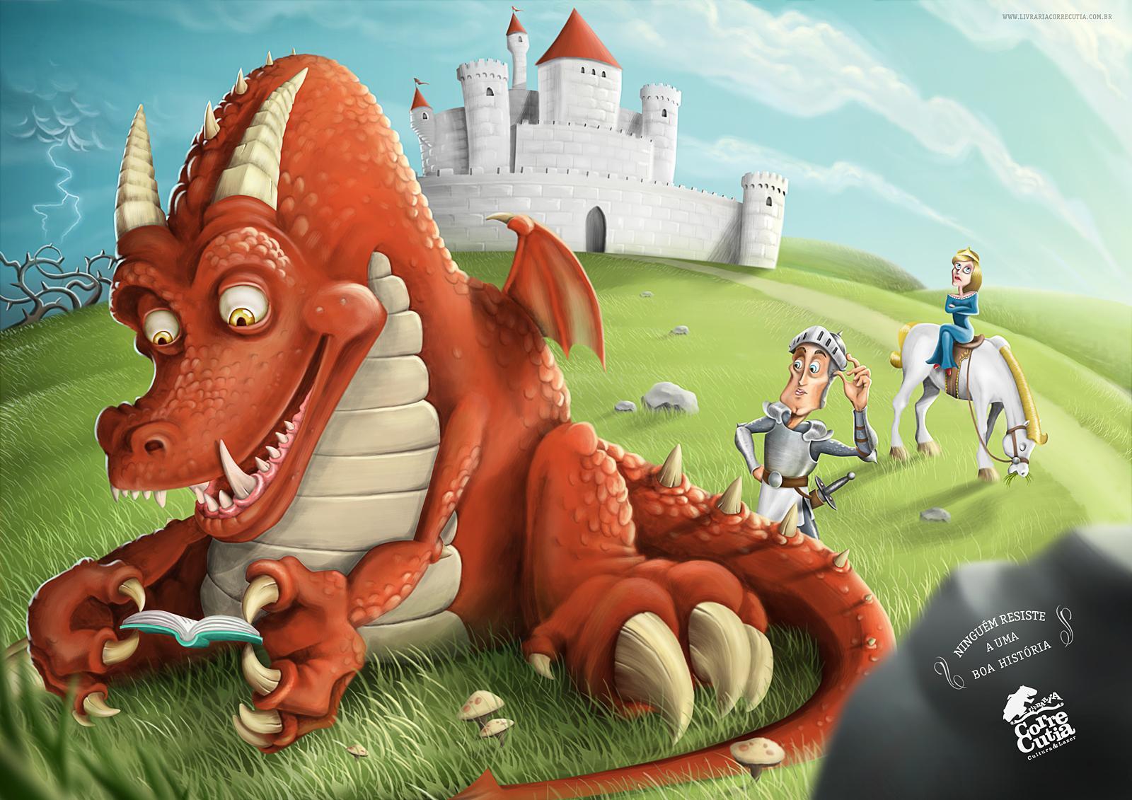 Corre Cutia Print Ad -  Nobody Resists a Good Story, Dragon