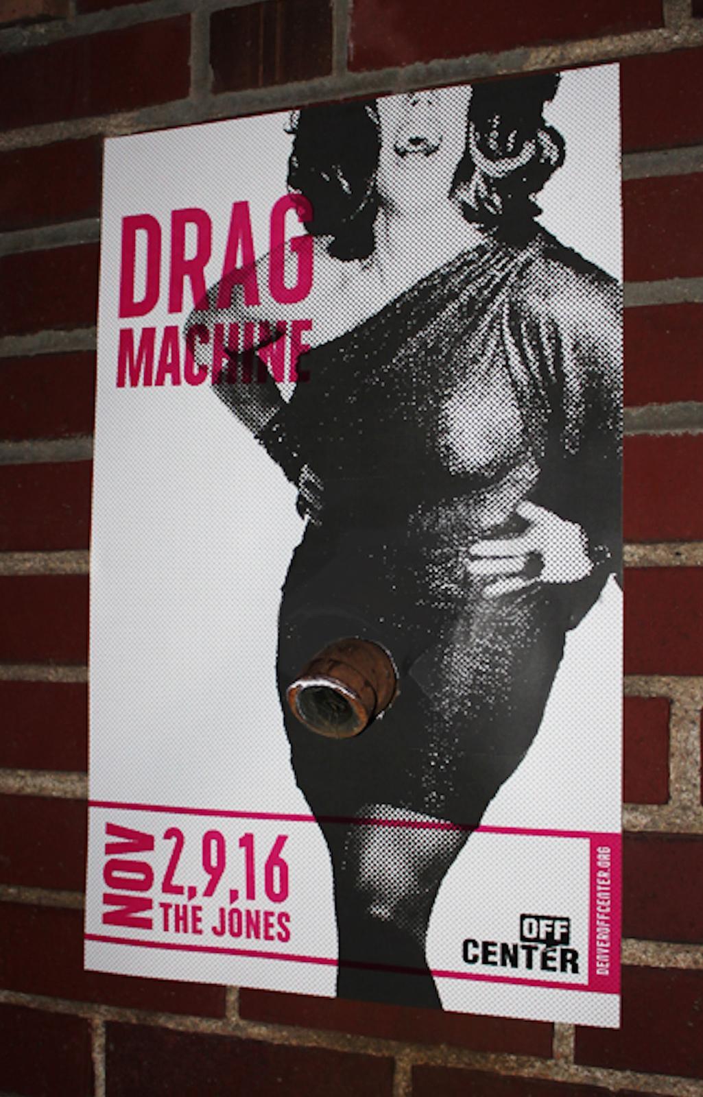 Off-Center Outdoor Ad -  Drag Machine, 1