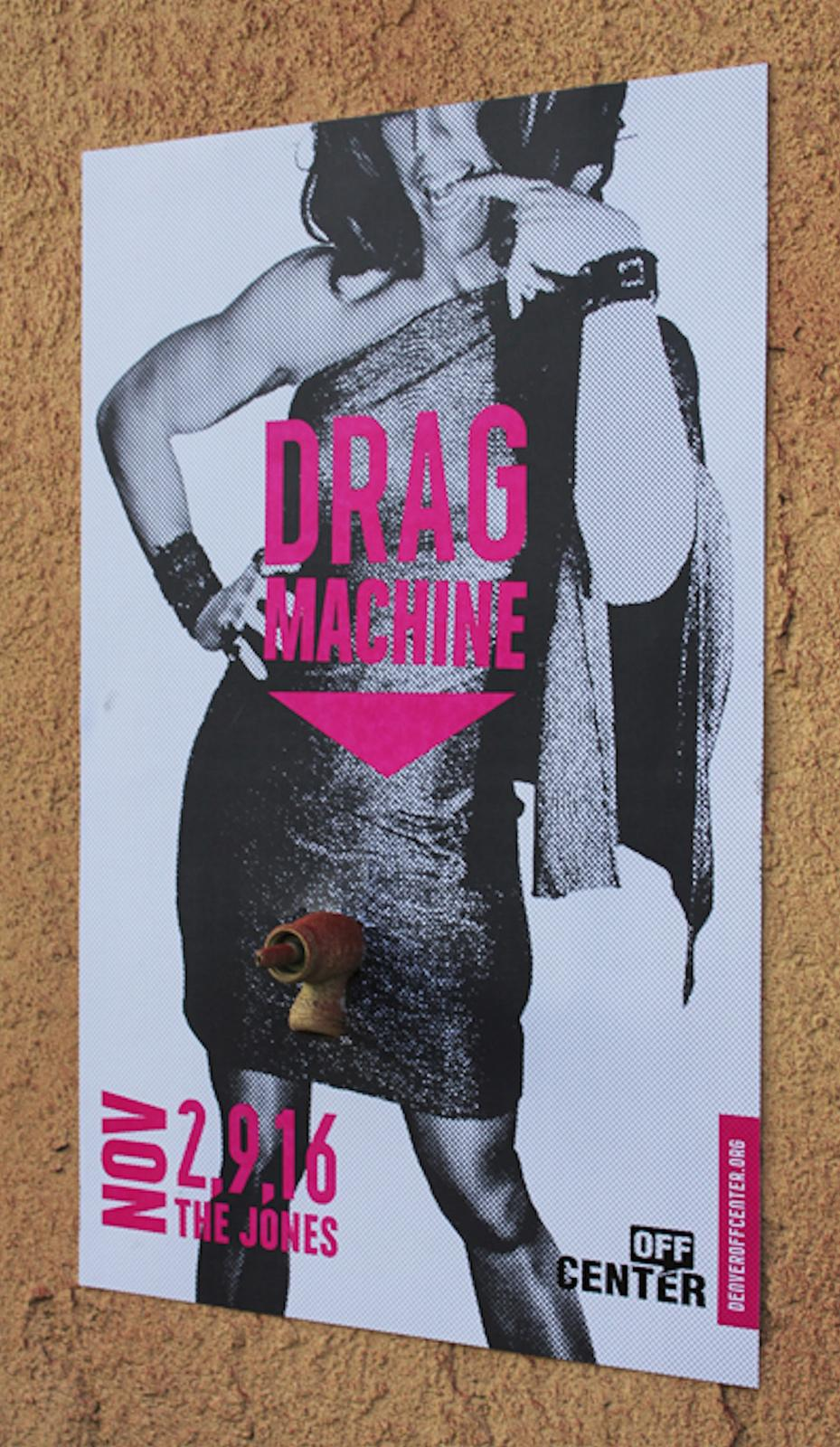 Off-Center Outdoor Ad -  Drag Machine, 2