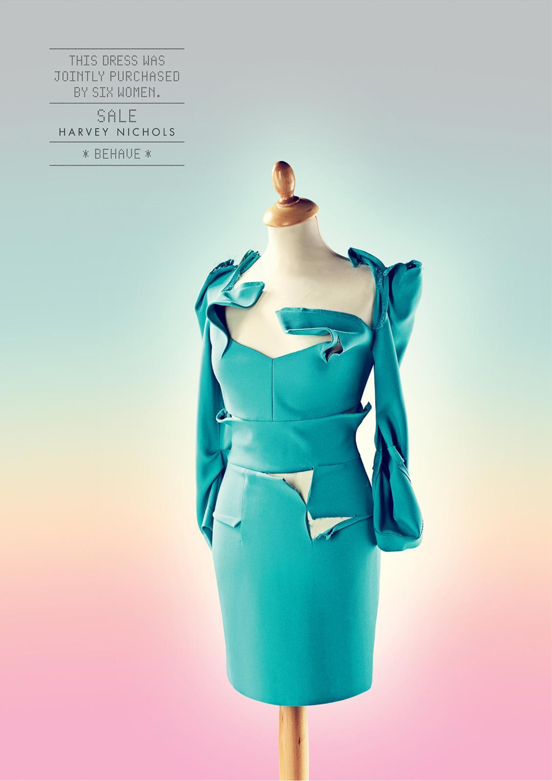 Harvey Nichols Print Ad -  Behave, Dress